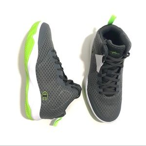 Champion Shoes - CHAMPION Boy's 2 Grey Green High Top Sneakers NWT